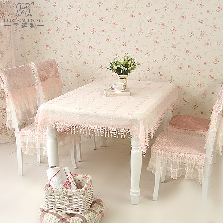 Velvet fabric tablecloth table cloth chair covers seat lucky sweet rustic