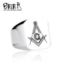 316l anello massonico in acciaio inox per gli uomini, maestro massonico anello con sigillo, gratuita di mason anello gioielli BR8-019(China (Mainland))