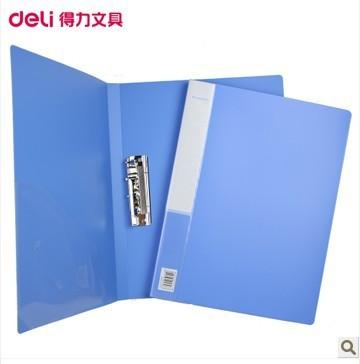 Deli 5301 A4 folder Single of strong clip folder + Pocket bag(China (Mainland))