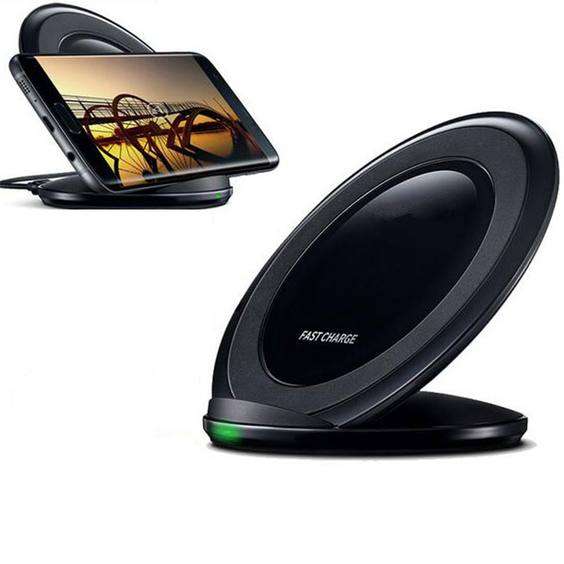 2016 New Fast Qi Wireless Charger Charging Pad Stand Dock for Samsung Galaxy S7 Edge S7edge S 7 Note 5 Phone Quick Fast Charger(China (Mainland))