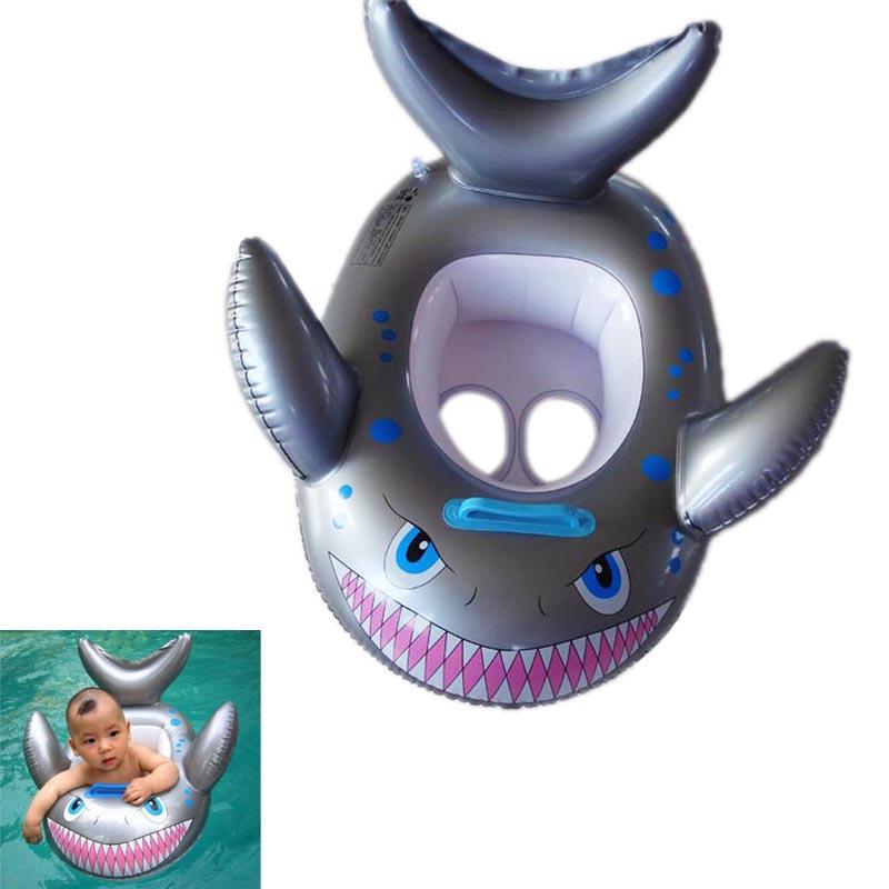 New Shark Shaped Kids Inflatable Baby Toddler Swimming Swim Seat Float Pool Fish Ring B2C Shop(China (Mainland))