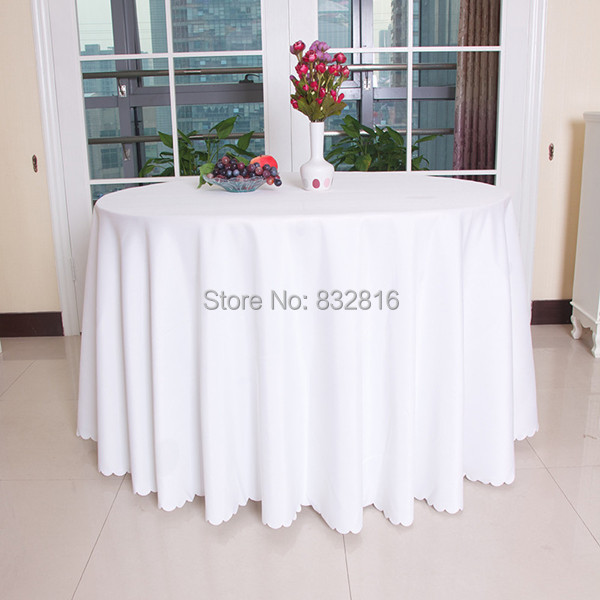 Big Size Polyester White Round Table Cloth Napkin Sets Wedding Tablecloth Party Table Cover Dining Table Linen Rectangular(China (Mainland))