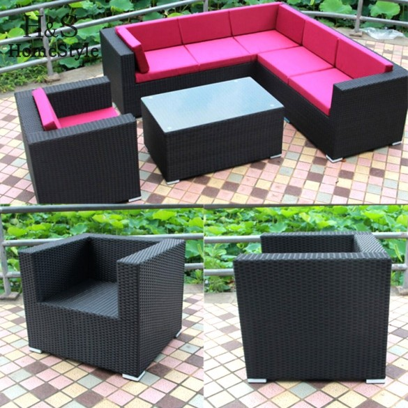 Homestyle Outdoor Sofa Set 2015 New Design Garden Furniture Rattan Wicker Patio Set Outdoor Furniture(China (Mainland))