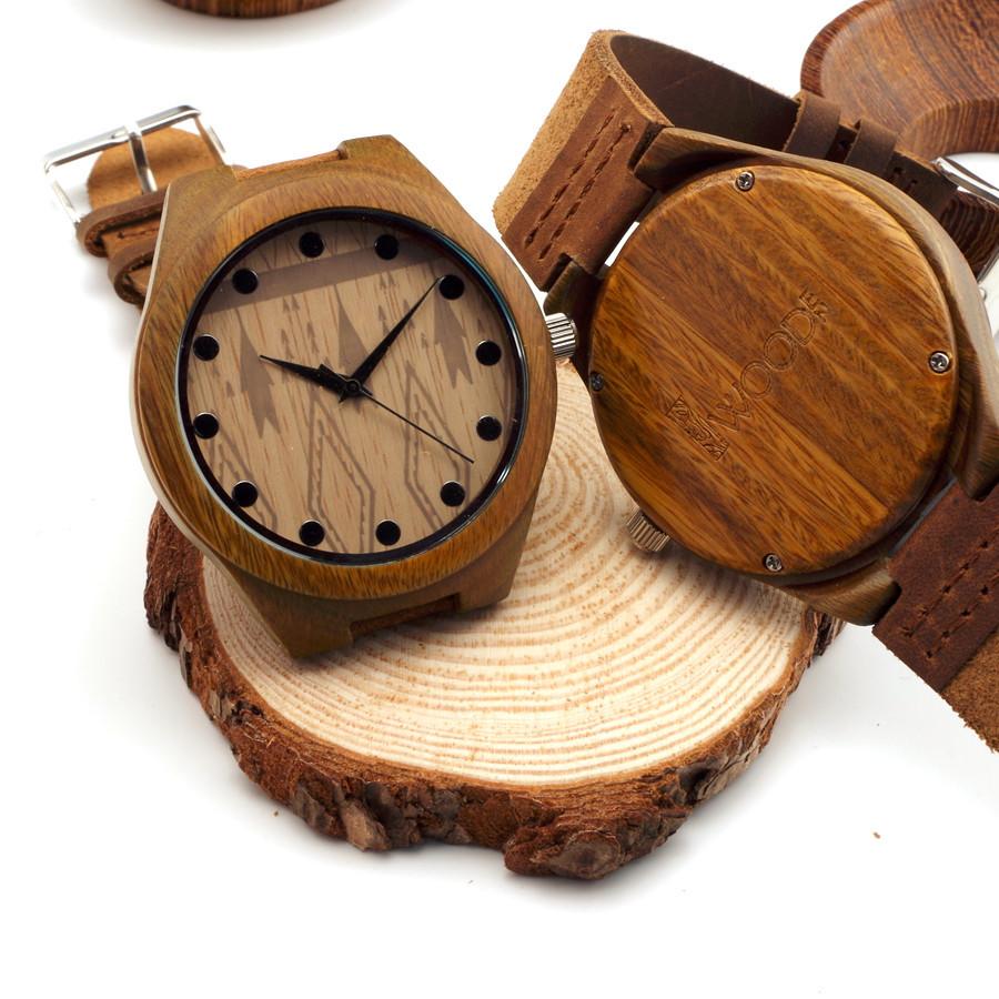 10 Стилей Индивидуальные женские мужские Luxuly Смотреть японский miyota 2035 движение наручные часы натуральная кожа бамбук деревянные часы
