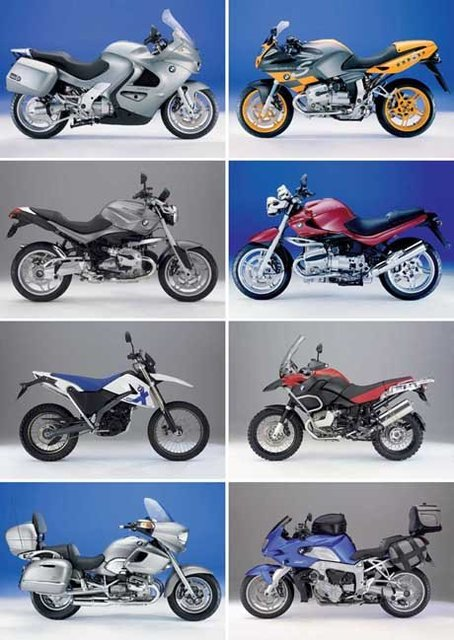 Postcard LAMINATED NEW, Brand Motor Motorcycle 8PCS 15*10.5 cm, Wholesale & Retail