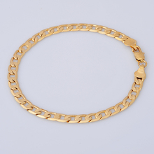 "18K Yellow Gold Filled Men's Bracelet Chain 8.6"" 6.5g Valentine's Day Gift B57(China (Mainland))"