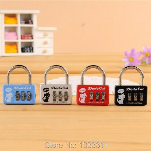 Mini Lock 3 Digit Number Combination Luggage Suitcase Security Padlock Cable(China (Mainland))