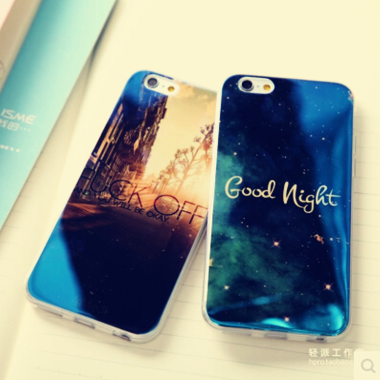 2015 new arrival high quality hot sale laser blue starry sky tidal current mobile phone cases for iphone 6 case cell phone cases(China (Mainland))