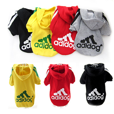 Free Shipping New Fashion Autumn Winter Summer PET Dog Clothes Cotton hoodie Cool Clothes For Dogs Hot Sale puppy sweater(China (Mainland))