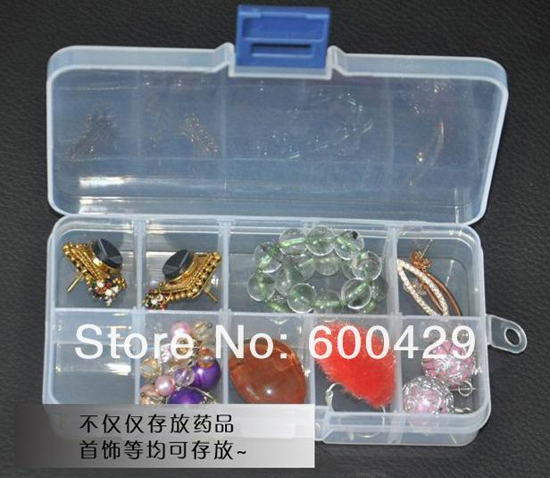 20pcs/lot 10/15 Cells Compact Adjustable Compartment Plastic Storage Box Jewelry Tool Container NEW Free Shipping(China (Mainland))