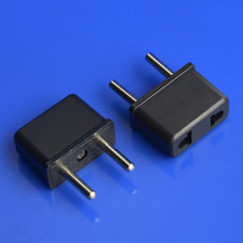 Buy 100pcs Universal US AU EU EU Plug USA Euro Europe Travel Wall AC Power Charger Outlet Adapter Converter 2 Round Socket Pin for $27.50 in AliExpress store