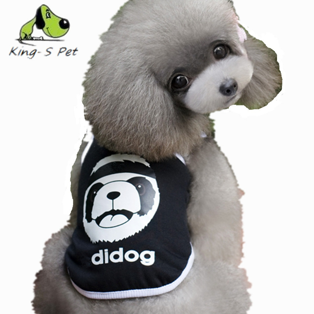 Pet Dog Summer Vest Puppy Baby Bear Pattern Pet Dog Clothes Small Dog Vest Black Blue Red Size XS S M L XL XXL Free Shipping(China (Mainland))