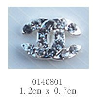 free shipping (10 pieces/pack) 3D Alloy AB white Rhinestone Nail Art iphone mobile Glitter Decoration
