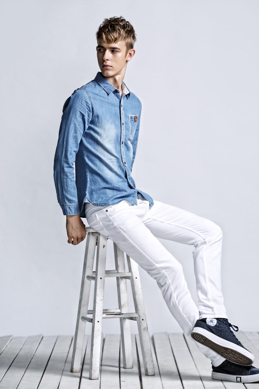 Скидки на КОТЕНКО, Марка Мужчины Джинсы Хлопок 2016 мужская Прямой Ногой джинсы длинные slim fit повседневные брюки Случайные штаны разорвал Плюс размер