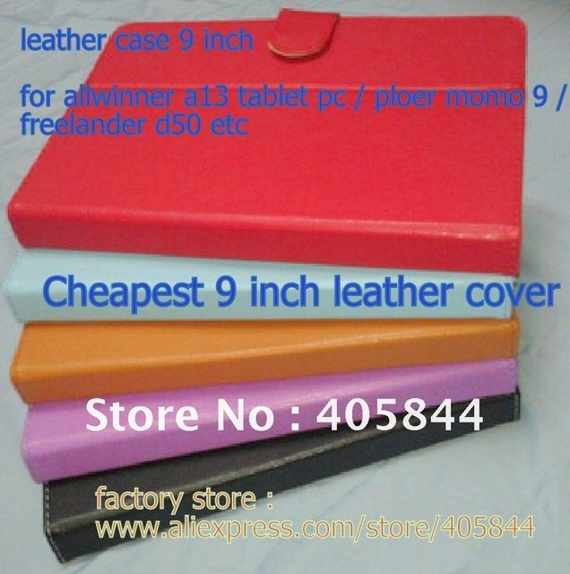 Universal 9''Leather case /cover for 9'' allwinner a13 tablet pc / ployer momo 9 inch /freelander pd50/ teclast a15 Cheapest