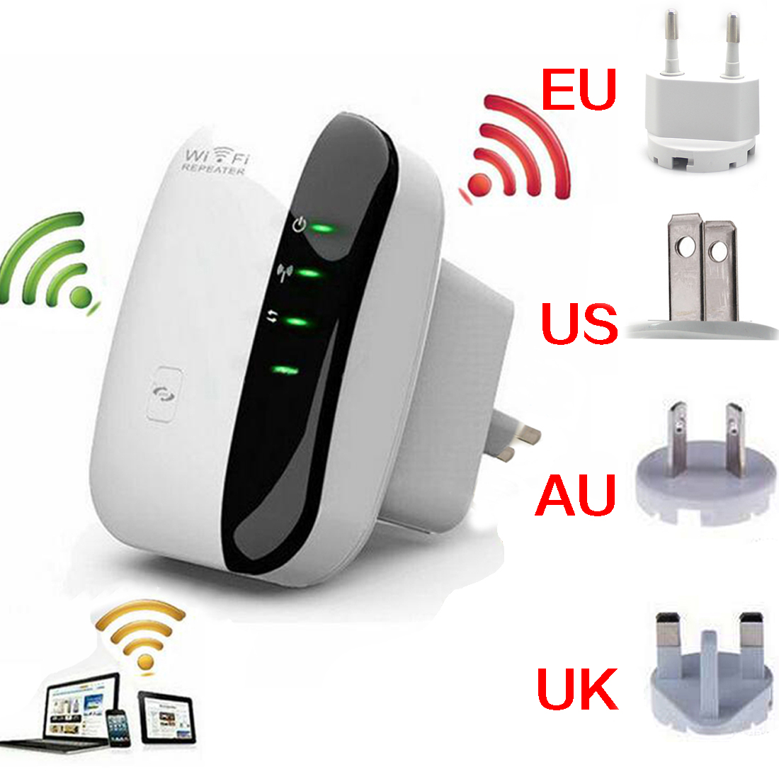 Wireless-N Wifi Repeater 802.11n/b/g Network Wi Fi Routers 300Mbps Range Expander Signal Booster Extender WIFI Ap Wps Encryption(China (Mainland))