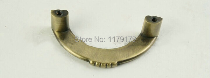 hole sapce 96mm half round antique brass drawer cabinet bedside table dresser furniture handles knobs ABH  bronze pulls  W133