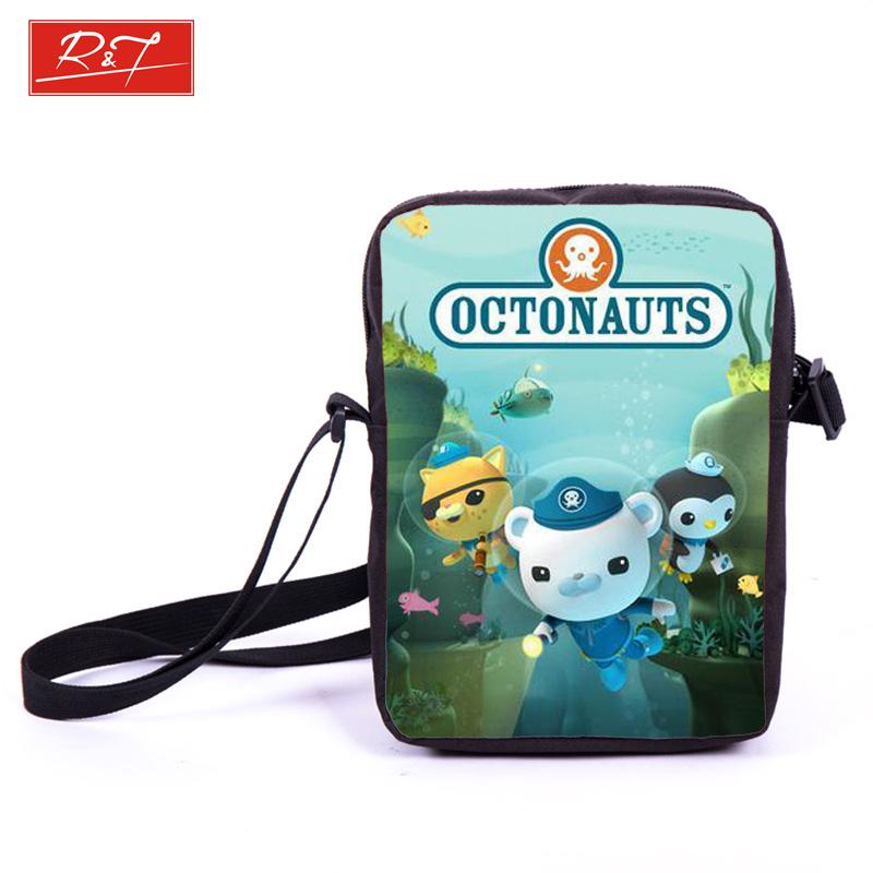 Kids Anime Octonauts School Bags Boys Girls Mini Messenger Bag Children Bookbag Daily Bags Crossbody Bag For Snacks Best Gift(China (Mainland))