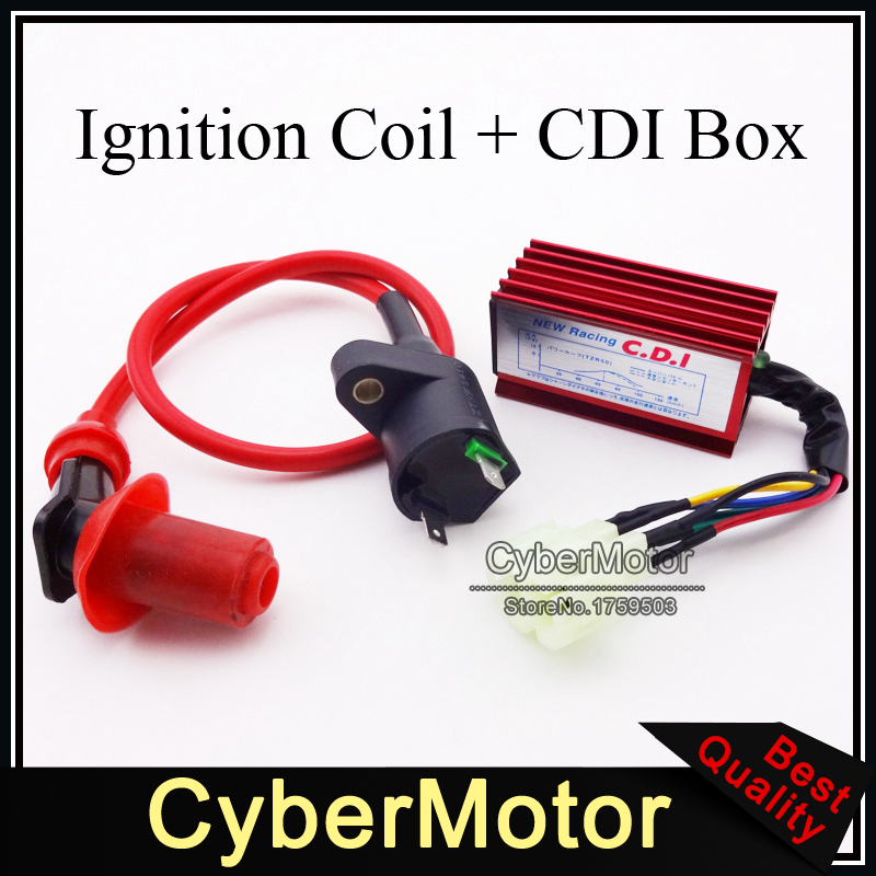 compare prices on 50cc atv online shopping buy low price 50cc atv red racing ignition coil 6 pins wires ac cdi box for chinese gy6 50cc 125cc 150cc