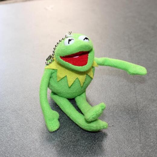 Free Shipping TY 16cm Kermit Plush Keychains Sesame Street Doll Stuffed Animal Kermit Pendant Plush Frog Doll(China (Mainland))