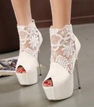 lace summer boots party fashion shoes woman sexy open toe high heels platform pumps women high