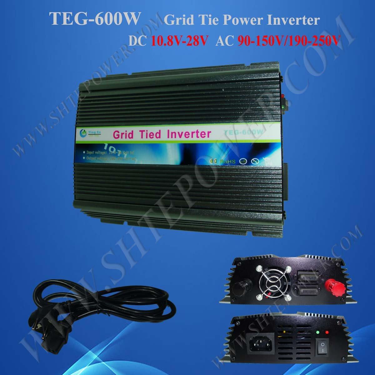 600w grid tie inverter 600 watts tie grid solar inverter dc 10.8-28v to ac 100v inverter solar(China (Mainland))