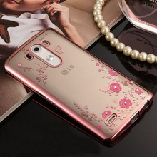 Buy Luxury Secret Garden Flowers TPU plating Rhinestone Soft TPU Case LG G3/LG3/D855/D850/D851/D852 Silicone Cases Back Cover for $1.99 in AliExpress store
