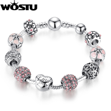 2016 Hot Sale 925 Silver LOVE FOREVER Amor Amour Charm bracelet for Women DIY Beads Jewelry Fit Original Pandora Bracelets Gift(China (Mainland))