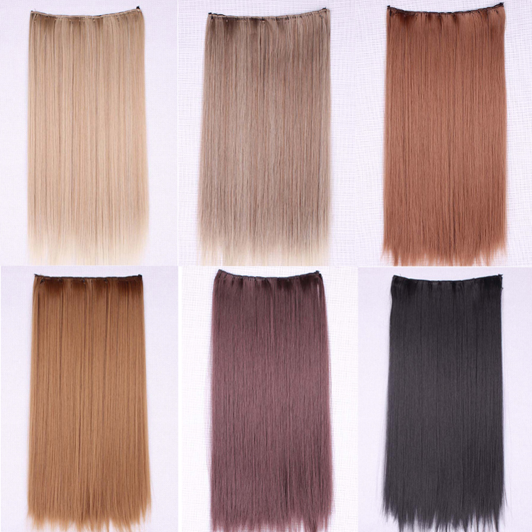 60Cm Drag queen Clip Hair Extension Blonde Synthetic Hair Long Straight Synthetic Hair Extensions Clip In Hairpiece Perruque<br><br>Aliexpress