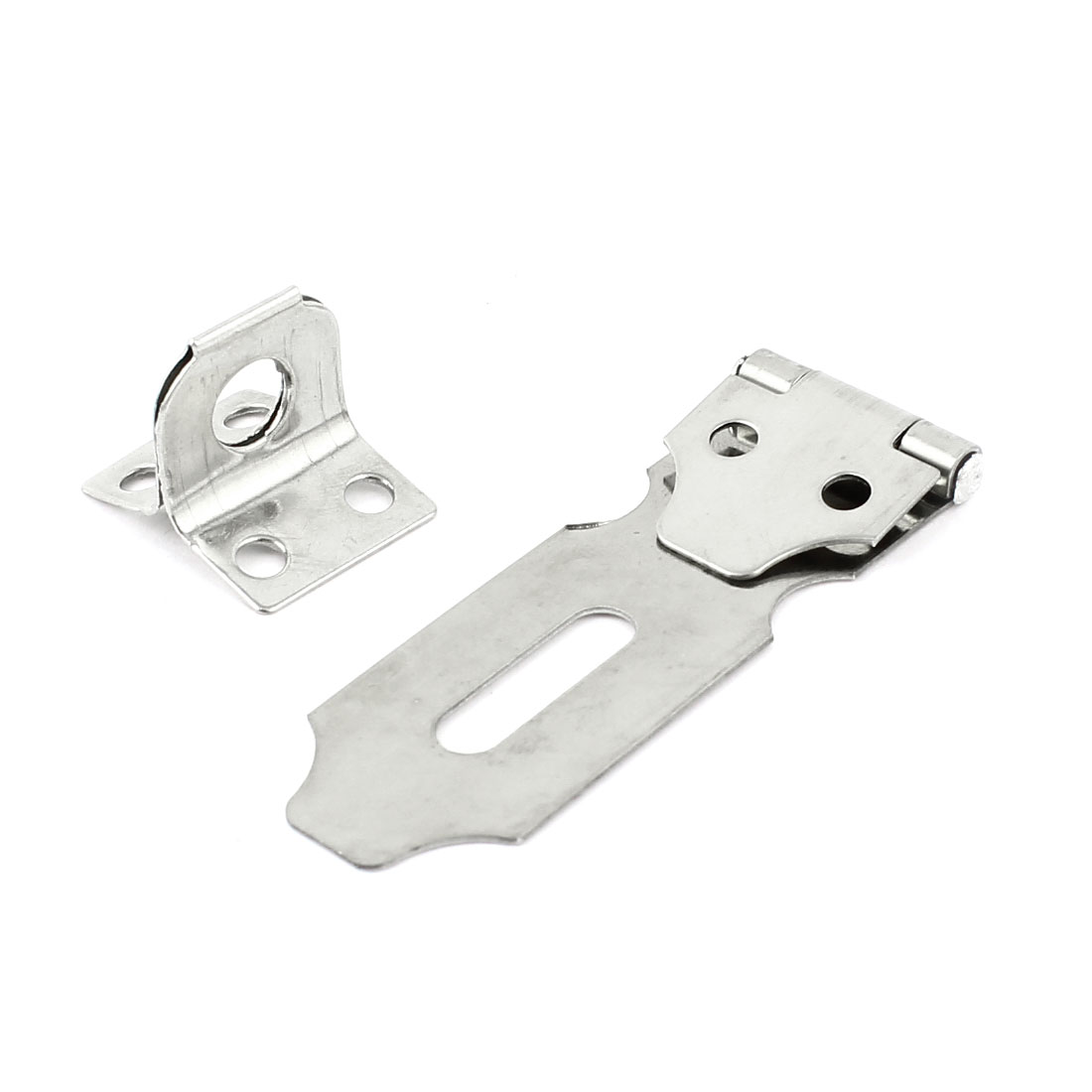 Cabinet Drawer Door Latch Stainless Steel Padlock Hasp Staple Set 7.5cm Long(China (Mainland))