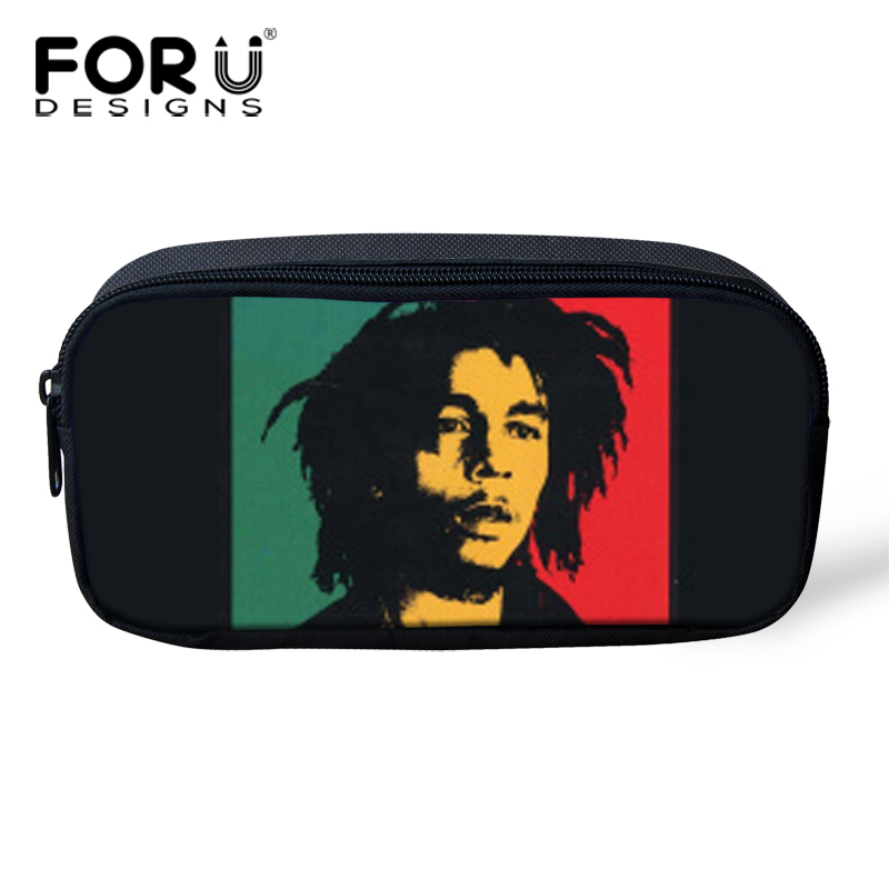 Reggae Bob Marley Makeup Bag Women Kids Pen Penil Case Boys Girls Gift Canvas Cosmetic Bags Children School Supplies - KIDS FOR YOU,CO.,LTD store