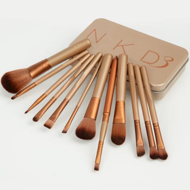 12 шт. / 1 компл. профессиональный новый nake 3 макияж кисти инструменты комплект ...