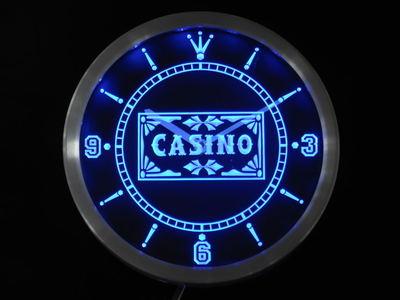 nc0358-b Casino Poker Game Room Bar Beer Neon Sign LED Wall Clock Wholesale Dropshipping
