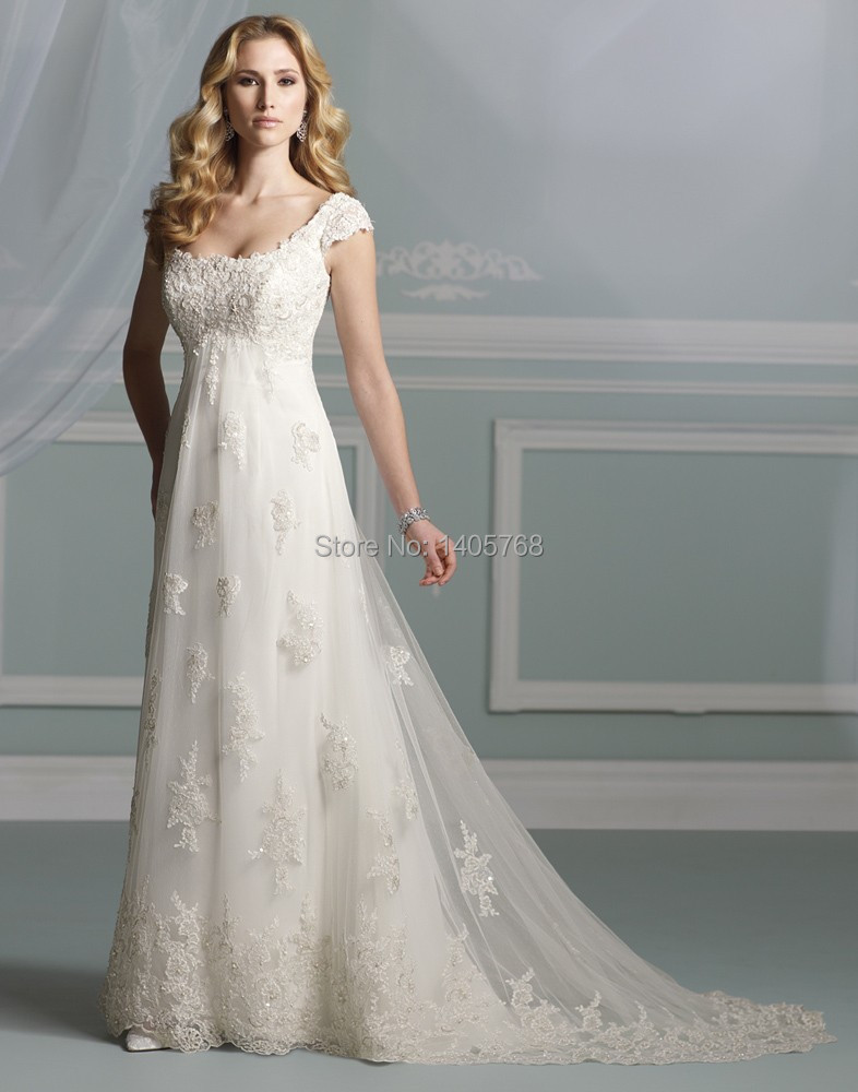 Long modest high neck wedding dresses appliqued and beaded for High couture wedding dresses