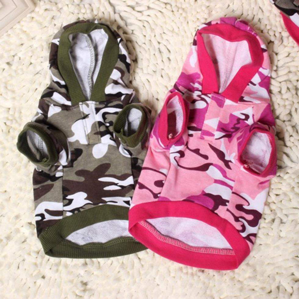 Fashion Hot Pet Puppy Dogs Cat Coat Clothes Camouflage Hoodie Sweater Apparel Tops(China (Mainland))