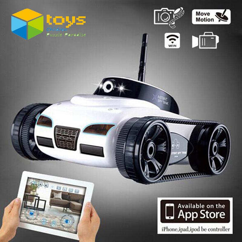 Large RC Tank APP Controlled Wireless Spy Tank Toys I-SPY Remote Control Robot with Camera Wifi Controlled Monitoring Vehicle(China (Mainland))