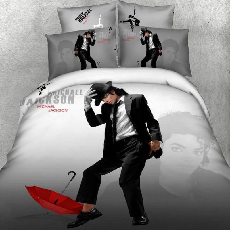 marilyn monroe bedding set 3D 100% cotton Michael Jackson American flag christmas red duvet cover bed sheet set queen king size(China (Mainland))