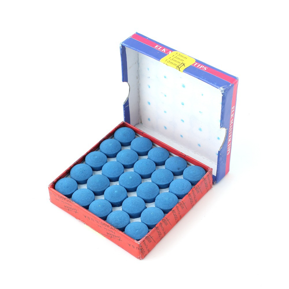 50pcs/box 9-13mm Billiard Accessories Billiard Cue Tip Pool Snooker Billiard Cue Tips Glue-on Elk Master (USA)Tips(China (Mainland))