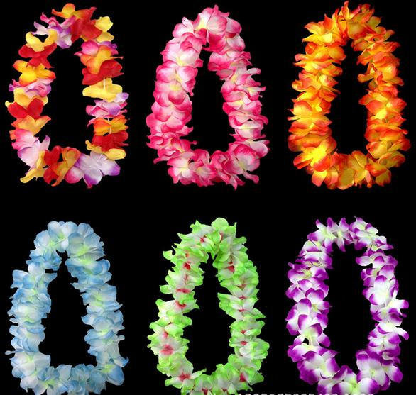 Brand new wedding Party cheerleader decoration hawaiian Flower necklace wreaths necklace artifical flowers drop shipping(China (Mainland))