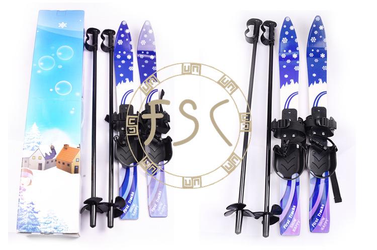 New Children/Kids Skiing Board Snowboard Brake Sled Winter Child High Quality Sleigh Sledge Ski Poles(China (Mainland))
