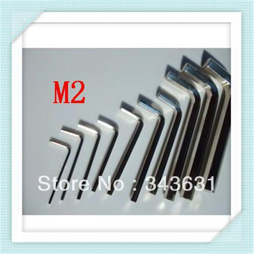 free shipping M2.0  hex key allen Wrench Spanner fixing tools (200PCS)