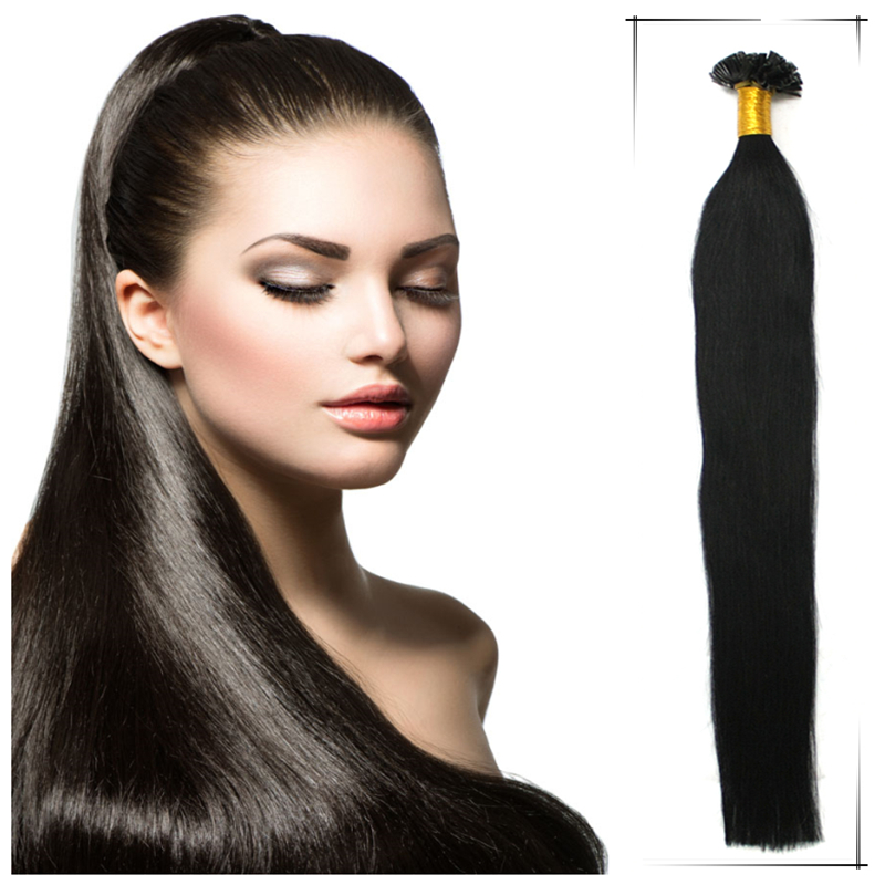 Wholesale 20inch/50cm Brazilian Human Straight Keratin U Tip Remy Hair Weaves 80g/pc Shedding Free Permanent Hair Extensions(China (Mainland))