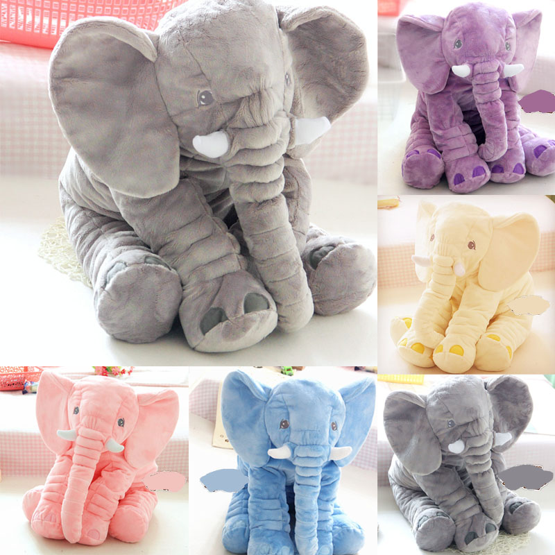 Big size 60cm New INS Fashion Animals toys Stuffed Soft Elephant Pillow Baby Sleep Toys Room Bed Decoration Plush Toys(China (Mainland))