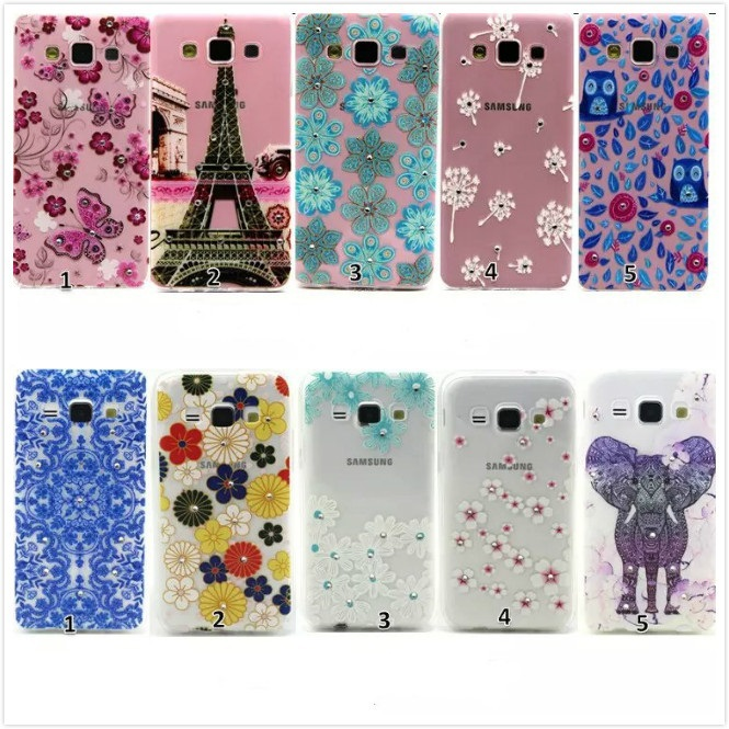 Ultra Slim Crystal Diamond Bling Embossed 3D Funda Coque TPU Soft Phone Case For Samsung Galaxy A3 A300F SM-A300F(China (Mainland))