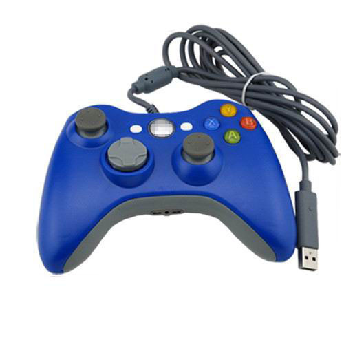 Blue USB Handle Cable Controller for Microsoft Xbox 360 Console PC Computer Video Game<br><br>Aliexpress