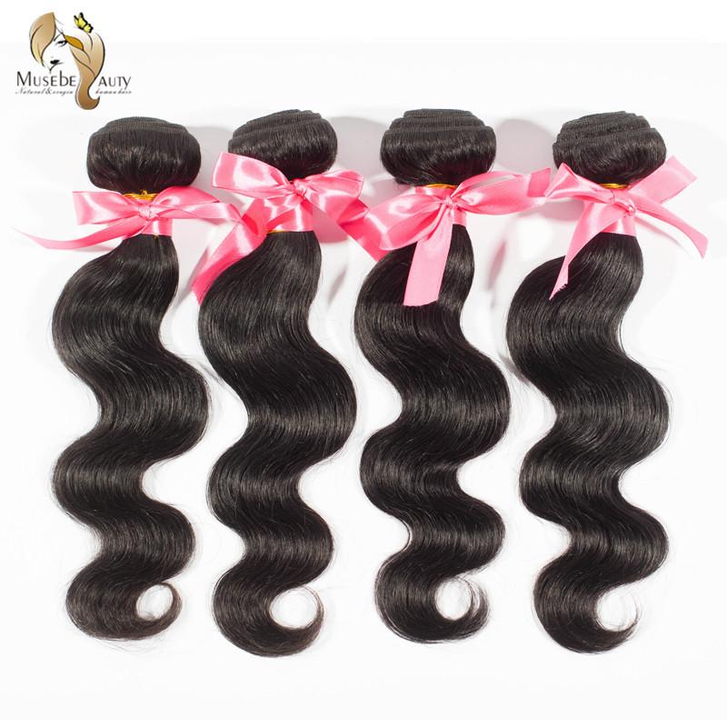 Cheap Peruvian Virgin Hair Extensions Body Wave 5A Unprocessed Human Hair Weaves Longqi Hair 1pc 60g Natural Black #1b Hair(China (Mainland))