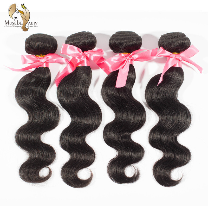 Pas cher péruvienne Virgin Hair Extensions vague de corps 5A non transformés humaines tissages cheveux Longqi cheveux 1 pc 60 g naturel noir # 1b cheveux(China (Mainland))