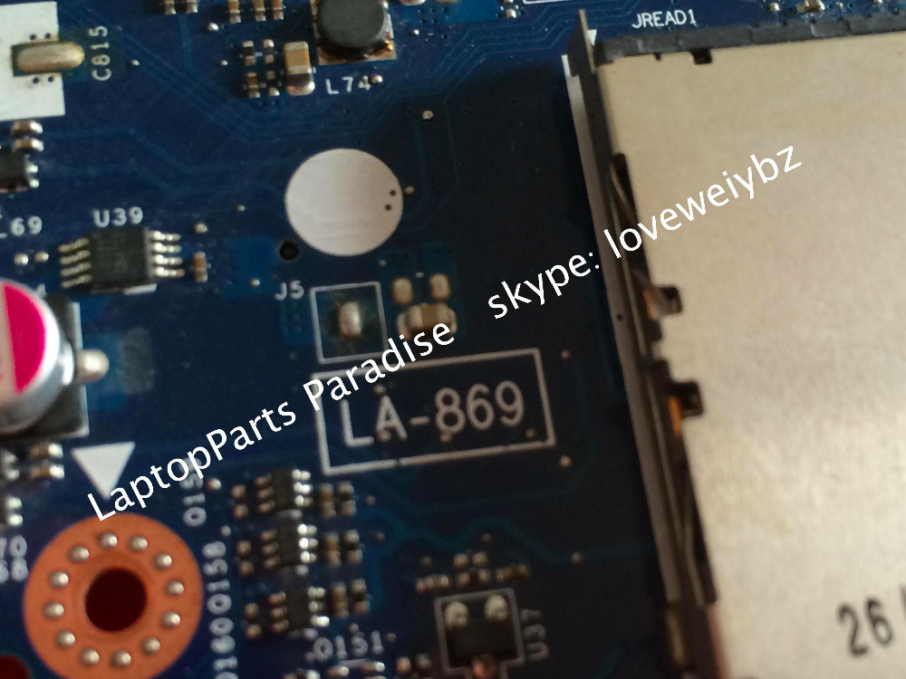 For Lenovo ideapad Y500 Laptop Motherboard QIQY6 LA 8692P Rev 1 0 Main board with Nvidia