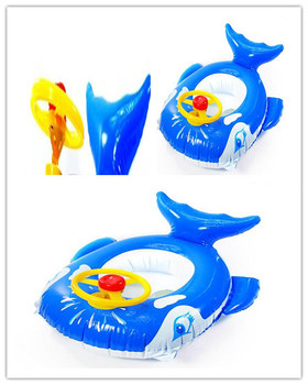 Baby water pool infant swim pool inflatable swimming pool long blue whale with steering wheel Free Shipping