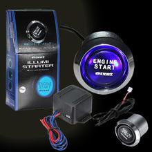 12V Car Engine Start Push Button Switch Ignition Starter Kit Blue LED Universal(China (Mainland))
